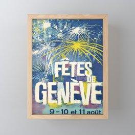 cartel fetes de geneve 9 10 11 aout 1963 Framed Mini Art Print