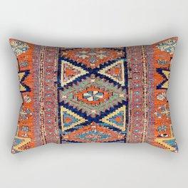 Southwestern Farmhouse II // 19th Century Colorful Red Yellow Blue Green Aztec Farm Stars Pattern Rectangular Pillow