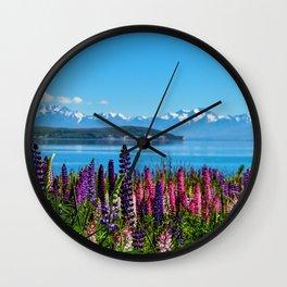 Tekapo Lake - New Zealand Wall Clock