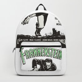 Frankenstein Vintage 1931 Movie Poster, Original Gift Idea, Boris Karloff, Bela Lugosi, Dracula Backpack
