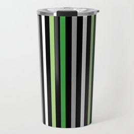 Aromantic Pride Vertical Stripes Travel Mug