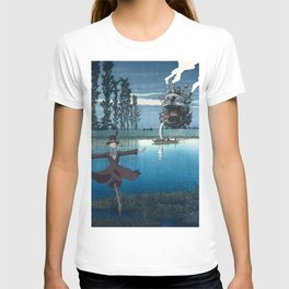 Howl's castle and the scarecrow japanese mashup T-shirt