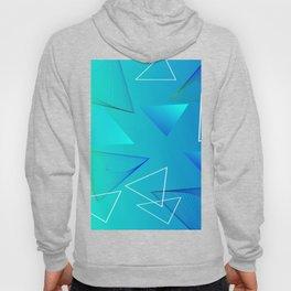 Aqua Triangle Abstract Art Design Hoody