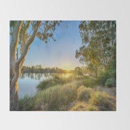 River Sunrise Throw Blanket