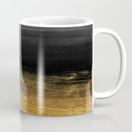 Black and Gold grunge stripes on modern grey concrete abstract background - Stripe -Striped Coffee Mug