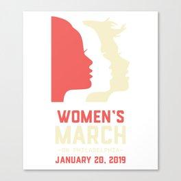 women march philadelphia Canvas Print