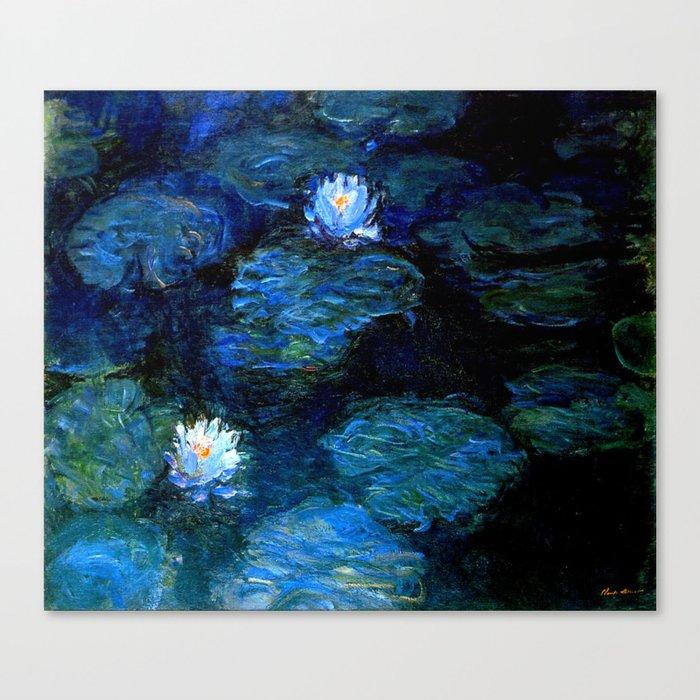 monet water lilies 1899 blue Teal Leinwanddruck