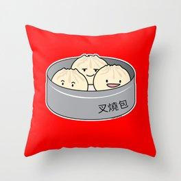 Pork Bun dim sum Chinese breakfast steamed bbq buns Throw Pillow