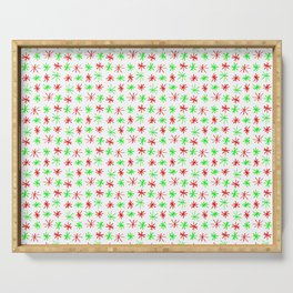 stars 78 - green and red Serving Tray