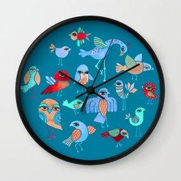 Quirky Birds Wall Clock