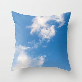 Cloud in a Blue Sky Throw Pillow