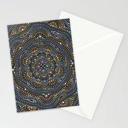 Metallic Dot Mandala Stationery Cards