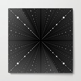 Infinity Space Dots Metal Print