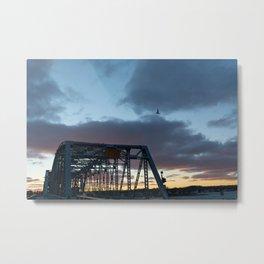 another bridge sunset Metal Print