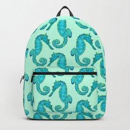 Green Seahorses Backpack
