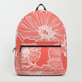 Coral Poppies Backpack