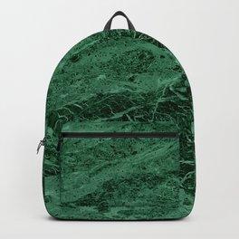 Dark emerald marble texture Backpack