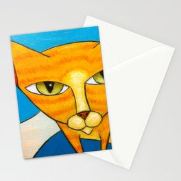 Cute Orange Kitty Stationery Cards