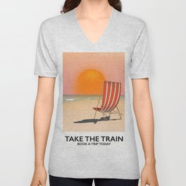 Take The Train Unisex V-Neck