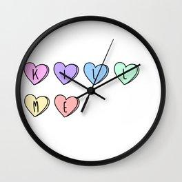 Kill Me Candy Hearts Wall Clock