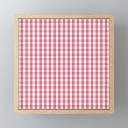 Nantucket Red Gingham Check Plaid Pattern Framed Mini Art Print