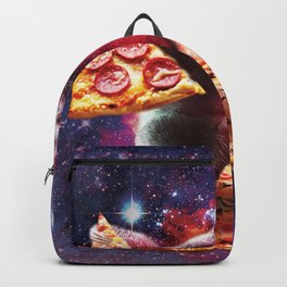 Funny Space Sloth With Pizza Backpack