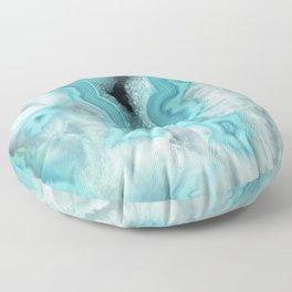 Aqua Sea Stone Floor Pillow