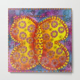 Patterned Butterfly Metal Print