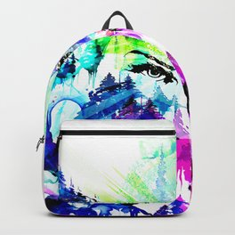 'The Eyes of Cosmos' Illustration by Hannah Stouffer Backpack