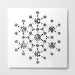molecule. alien crop circle. flower of life and celtic patterns Metal Print
