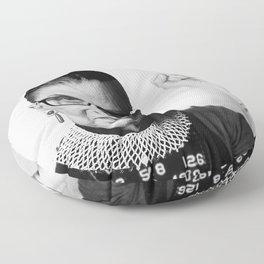 RBG Ruth Bader Ginsburg Drawing Jane Fonda Mug Shot Mugshot Floor Pillow