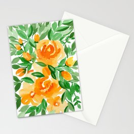 Orange Roses Stationery Cards
