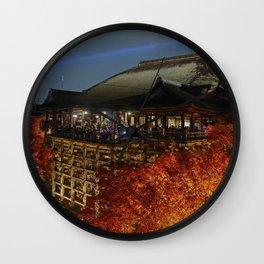 Kiyomizudera Autumn Wall Clock