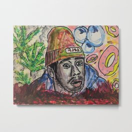 tyler,rapper,colourful,colorful,poster,wall art,fan art,music,hiphop,rap,legend,shirt,print Metal Print