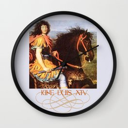 Louis XIV - The Sun King - Monarch of France  Wall Clock