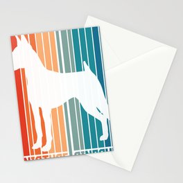 Pinscher Retro Funny Dog Whelp Gift design Stationery Cards