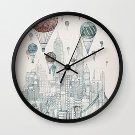 Voyages Over New York Wall Clock