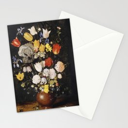 Bouquet of Flowers in an Earthenware Vase (ca 1610) Stationery Cards