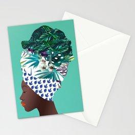 Tofo, Mozambique Capulana Lady Stationery Cards
