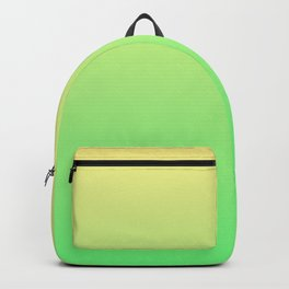 Green to Yellow Ombre Shaded Lemon and Lime Sorbet Ice Cream Gelato Backpack