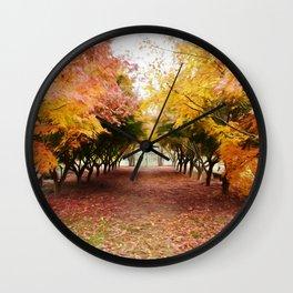 Autumn on the Farm Wall Clock