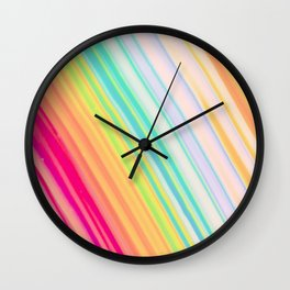 Colorful Rays Wall Clock