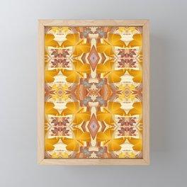 Vintage Golden Autumn Fall Floral Psychedelic Retro Print Framed Mini Art Print