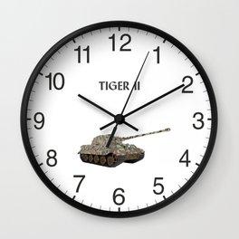 Tiger II German WW2 Battle Tank Wall Clock