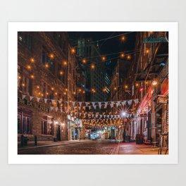 Stone Street in NYC Art Print