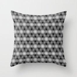 Black and White Egyptian Triangle Pyramid Check Throw Pillow
