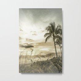 Vintage BONITA BEACH Bright Sunset Metal Print