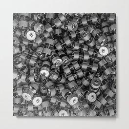 Chrome dumbbells Metal Print
