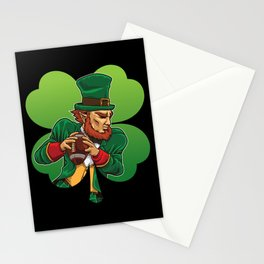 American Football Leprechaun - Lucky Irish Stationery Cards