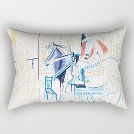 Pablo Picasso - The Human Comedy - Digital Remastered Edition Rectangular Pillow